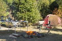キャンプの焚き火