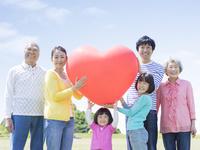 ハートを持つ日本人の三世代家族