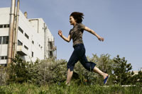 走る女の子