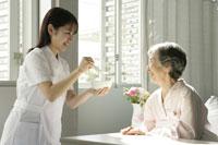 看護婦と患者さん