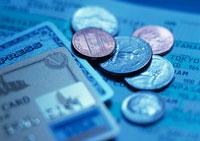 クレジットカードと硬貨