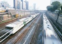電車と町並