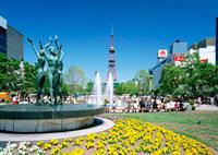 大通公園 11007060115| 写真素材・ストックフォト・画像・イラスト素材|アマナイメージズ