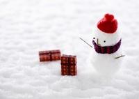 雪だるまとギフトボックス