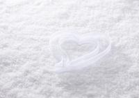 雪とハート