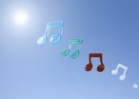 青空に浮かぶ音符