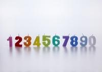 数字のキャンドル