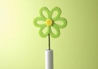 フェルトの花と電池