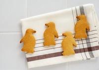 ペンギン形のクッキー