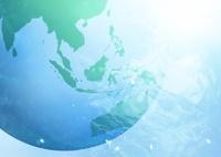 地球と海中のイメージ
