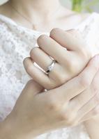 結婚指輪をした手