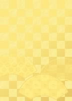 扇と市松模様イメージ