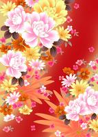 シャクヤクと菊