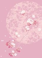 満月に桜 11007065889| 写真素材・ストックフォト・画像・イラスト素材|アマナイメージズ