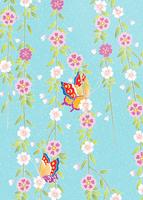 しだれ桜蝶