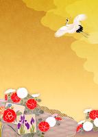 色紙に鶴 11007066119  写真素材・ストックフォト・画像・イラスト素材 アマナイメージズ