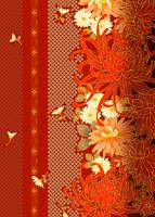 縦縞菊づくし 11007066440| 写真素材・ストックフォト・画像・イラスト素材|アマナイメージズ
