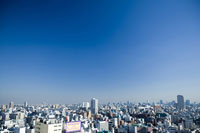 an elevated view of Tokyo cityscape.