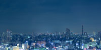 an elevated view of Tokyo cityscape
