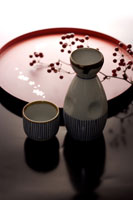 Sake Bottle and Sake Bowl