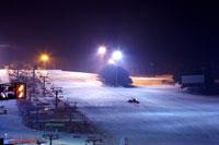 Night view on ski resort