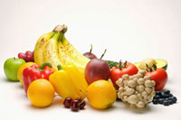 Selection of fruit and vegetable