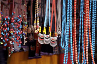 Baisha town, market stall, necklaces