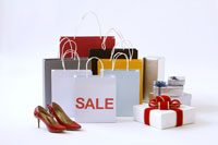 Shopping bags, high heels & gifts