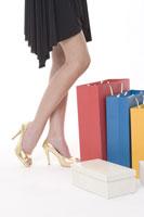 Teenage girl with shopping bag