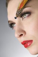 Studio shot of teenage girl with makeup