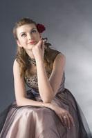 Teenage girl in evening dress