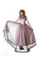 Teenage girl in formal dress 11010038658  写真素材・ストックフォト・画像・イラスト素材 アマナイメージズ