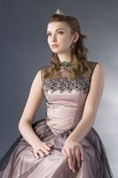 Teenage girl in formal dress