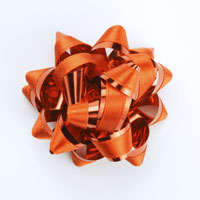 Flower shaped red ribbon