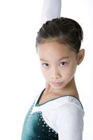Girl wearing tracksuit posing