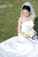 bride holding with bouquet