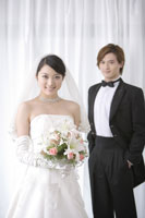 Young newlywed couple