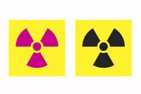 Danger radiation risk' sign