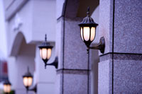 Lamps on wall