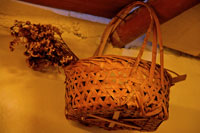 Bamboo basket with wildflowers