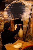 Potter by ceramic kiln�fs exit