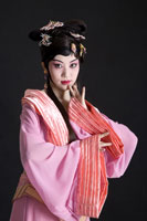 opera performer in traditional dress