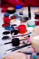 Make-up material for opera performance