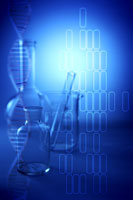 Laboratory glassware & DNA structure