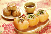 Persimmons and mooncakes