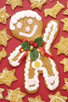 Gingerbread man and star shaped cookies