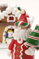 Santa Claus and Gingerbread House