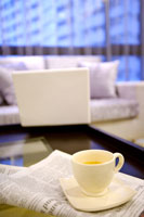 A cup of tea in living room