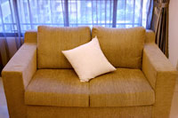 Sofa near window