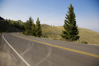 Yellowstone National Park, Empty road